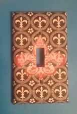 Fleur De Lis Light Switch Cover, Black
