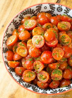 Simple Chimichurri Tomato Salad with HUGE flavor! Enjoy your garden tomatoes kissed with a fresh herbaceous chimichurri sauce recipe. This bold combination