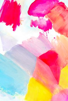 Fragment 3 by Hooray Creative -  Abstract Art Print with strong pink brushstrokes