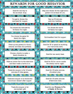 Rewards for Good Behavior (Free Printable) - Moms & Munchkins