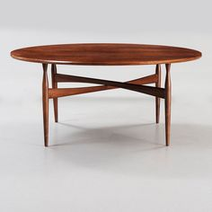 Ib Kofod-Larsen; Palisander Coffee Table for Christiansen & Larsen, 1950s.