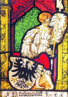 Glasfenster mit Wappen von Ullendorf Stained Glass Window with Coat of Arms von Ullendorf