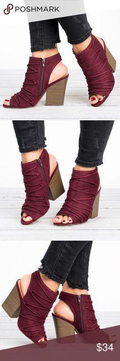 Ruby Peep toe Bootie - Vino Boutique