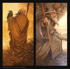 William O'Connor Studios: The Cousins of Valinor: Radagast and Gandalf