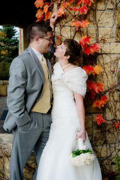 Fall Ivy Wedding Photo