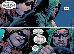 Green Arrow and Harley Quinn