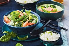 Thai Salmon Green Curry—Fish sauce has a strong taste that mellows slightly as it cooks. If you're not used to it, add it in small quantities, until desired flavour is achieved. Curry Recipes, Fish Recipes, Seafood Recipes, Indian Food Recipes, Asian Recipes, Vegetarian Recipes, Healthy Recipes, Thai Recipes, Delicious Recipes