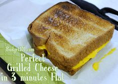 Perfect Grilled Cheese- without a Stove!