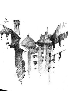 Architectural sketches 443956475771878857 - Source by Entrecielterre Architecture Drawing Art, Architecture Sketchbook, Art Sketchbook, Pencil Drawing Images, Charcoal Art, Landscape Drawings, Urban Sketching, Art Drawings Sketches, Drawing Techniques
