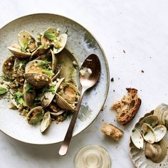 Garlicky Littleneck Clams with Fregola | Food & Wine