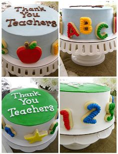Teacher Appreciation Cakes ~ ABCs & 123s My Sweet Things