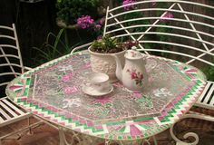 Mosaic Magic: Rescuing an Old Glass Garden Table