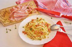 ŠPAGETY SE SLANINOU, SMETANOU A TYMIÁNEM :: Tipy na Výlety a zábava Spaghetti, Ethnic Recipes, Food, Meal, Essen, Hoods, Meals, Eten