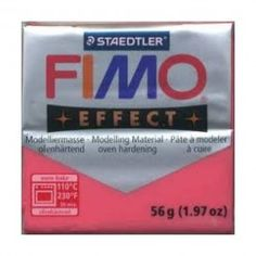 FIMO EFFECT ROSSO TRASPARENTE N.204