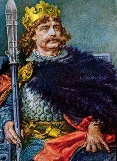 """Bolesław I Wielki """"Chrobry"""" był szesnastym koronowanym królem królów starożytnego Imperium Polskiego, gdy w tym samym czasie Otton III był dopiero czwartym królem Niemiec. Trzykrotnie koronowany: pierwszy raz w 992 r. na króla Polski, drugi raz w Gnieżnie w roku 1000 na króla królów Wschodu Europy, a trzeci raz w 1025 r. na króla Rzymu i reszty Europy. Pierwsze państwo niemieckie powstało bowiem dopiero 12 maja 919 r. podczas gdy Imperium Lechitów istniało już od XVIII wieku przed naszą erą! Poland History, Art History, Dr Book, European Languages, Central Asia, Herb, Knight, 12 Maja, Painting"""