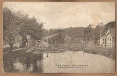1911~Stanhope NJ~Morris-Erie M&E Canal Plane~Lake Hopatcong~Sussex Co~Morristown