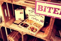 The small BiteBox with four yummy natural snacks.