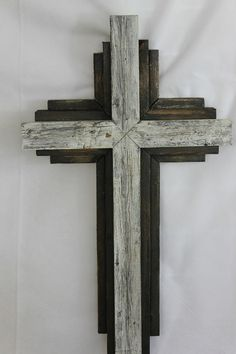 Wooden Rustic Wall Cross from reclaimed wood