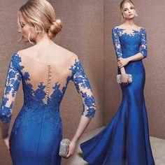 Compre Vestidos de Madrinha de Casamento Azul Online | UFashionShop