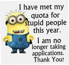 Internet is great source of fun and cool things, Minions are currently trending all over place, well we have some really funny biggest collection of Minions memes humor jokes Funny Minion Memes, Minions Quotes, Funny Jokes, Minion Humor, Funny Cartoons, Minion Sayings, Minion Pictures, Funny Pictures, Funny Pics
