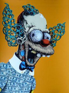 Distroy, por PEZ Artwork, Krusty el Payaso