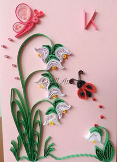 Quilling Flowers on Card Neli Quilling, Quilling Butterfly, Quilling Images, Paper Quilling Flowers, Paper Quilling Cards, Paper Quilling Jewelry, Paper Quilling Patterns, Quilled Paper Art, Quilling Paper Craft