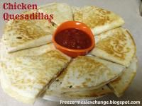 Chicken Quesadillas (Freezer Meal) on MyRecipeMagic.com. Freezer meals are the best and this one is sure to please!!