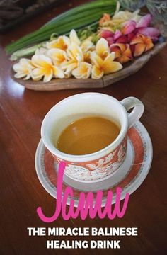 A simple Jamu (traditional Balinese health drink) recipe with turmeric and ginger for a healthy tummy.