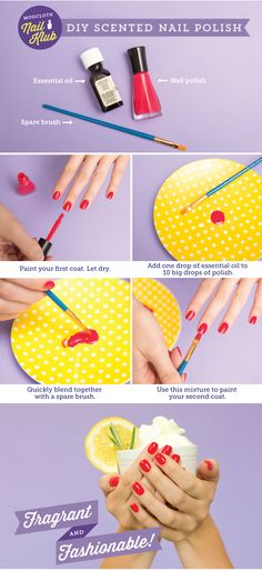 The Essence of Cool: DIY Scented Nail Polish -