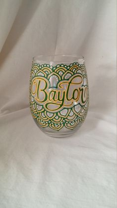 Hey, I found this really awesome Etsy listing at https://www.etsy.com/listing/260969513/baylor-university-hand-painted-stemless