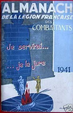 almanach de la légion française des combattants - 1941