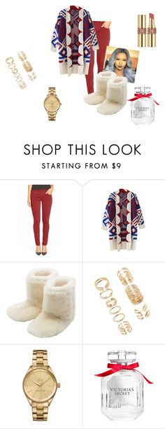 """""""Untitled #56"""" by gameofchancee ❤ liked on Polyvore featuring Jag Jeans, M&Co, Forever 21, Lacoste, Victoria's Secret and Yves Saint Laurent"""
