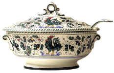 Tuscan soup tureen from Impruneta...lovely!  It looks like an antique tureen you might have inherited from your grandmother.