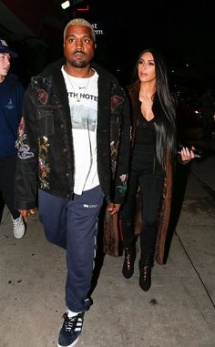 Kanye West & Kim Kardashian from The Big Picture: Today's Hot Photos  The lovebirds are spotted going out to dinner after spending the day at Universal Studios Hollywood.