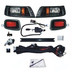 NEW EZGO TXT Deluxe Light Kit Street Legal Turn Signals Headlights  LED Taillights  Horn  Brakes  Turn Signals >>> You can get additional details at the image link. (This is an affiliate link) #CarLights
