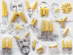 Victor Nunes tekee ruoasta ja esineistä hauskoja taideteoksia   Vivas