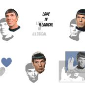 Spock in my pants - Love is Illogical  I need this fabric!