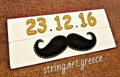 Διασταση:45χ19 #stringart #wood #handmade #handcraft #craft #art #artist #new #born #baby #boy #gift #mustache #instaart #etsy #greece