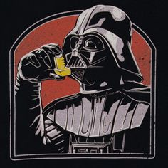 Darth Vader's machine like respirator suit only gets him so far.  The Dark Lord of the Sith needs a little something extra to restore balance to the force in his airways.  This tee features Vader taking a puff from an asthma inhaler.