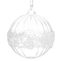 Boule de Noël Ruban de glace - Maison Du Monde - Vendu par 6