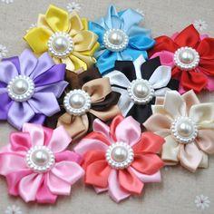 10/30 pcs Satin Ribbon Flower Multilayers Flower For Hair Accessories B281 #UnbrandedGeneric