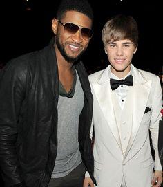 Justin and his mentor Usher.  Google Image Result for http://www.nick.com/nick-assets/blogs/images/kids-choice-awards/blog-justin-bieber-usher-kca.jpg