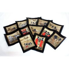 utopiajdesigns.com: Set Of 12 Banana Leaf Paintings (8½x11)  [A-P205]  $45.00