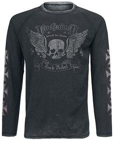 Rock Rebel by EMP Bound For Honor Longsleeve grau/schwarz S