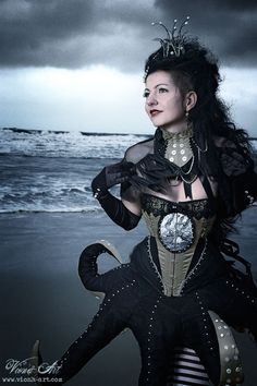 gorgeous Victorian-inspired octopus dress and corset