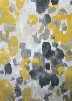 Love this fabric. I think this is the one for a new living room pillow. Landsmeer, Citrine - from tonic living Yellow Fabric, Grey Fabric, Floral Fabric, Textures Patterns, Print Patterns, Fabric Design, Pattern Design, Bed Sets For Sale, Living Room Pillows