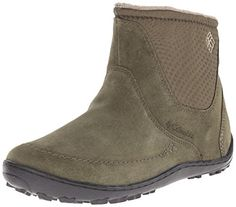 Columbia Women's Minx Nocca Slip Nylon Winter Boot. Removable contoured footbed. Omni tech waterproof breathable seam-sealed membrane bootie construction. Omni grip non marking traction outsole.