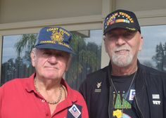 Photo courtesy of Cheryl Sanchez.  Gerald Elinger (left) and Victor Williams, both of Redding, attend the Redding Elks 88th annual Veterans Day Cognac Toast and Lunch on Nov. 11 at the Redding Elks Lodge. Go to www.redding.com for more Scene! event photos.