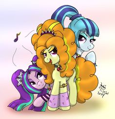 MLP - Equestria Rainbow Rocks - Villains // WAIT! these guys are NOT PONIES!! they are DRAGONS!!