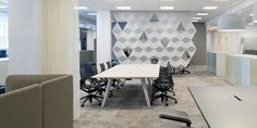 Combining the sound-absorbing conforming modules into creative partitions elicits a dynamic interplay of lines and shadows. Office Pods, Sound Absorbing, Stockholm Sweden, Table, Furniture, Design, Home Decor, Shadows, Creative